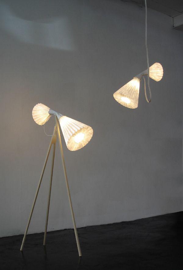 Swan Lamps by Tian Zhen