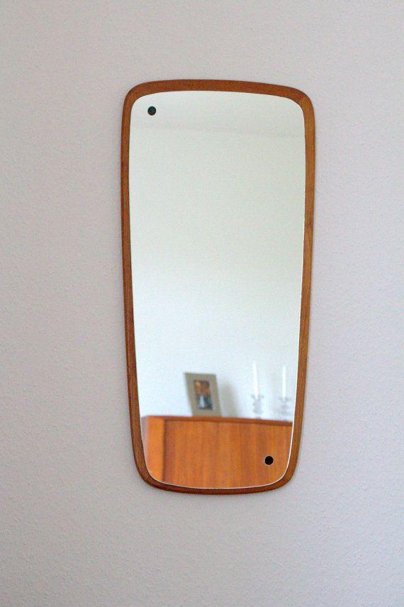 Mirror, teak, danish design, vintage, mid century