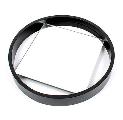 Square mirror in black lackered wooden ring design Benno Premsela 1956 executed ...