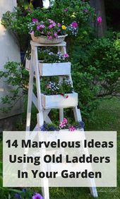 Architecture Art Designs - 14 Marvelous Ideas For Using Old Ladder In Your Garden