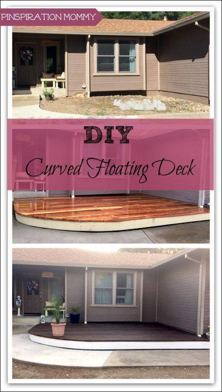 DIY Floating Deck: A Curved Freestanding Deck