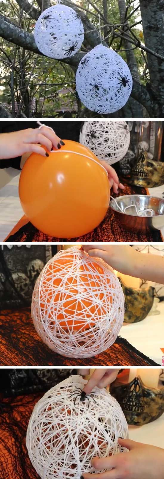 How to Make Super Fun Halloween Crafts for Kids - Spider Nests
