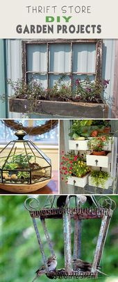 Thrift Store DIY Garden Projects | The Garden Glove