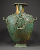 Bronze hydria (water jar), 4th century B.C.; Classical Greek Bronze