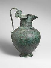 Bronze oinochoe (jug) | Greek | Archaic | The Met