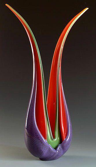 Ed Branson Selva Leaves Sculpture / Winner of the 2012 NICHE award for blown gla...