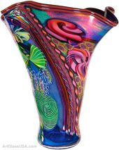 Fluted Aquarium Vase by James Nowak from NJM Gallery