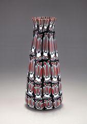 Fratelli Toso (attributed). Vase, c1960. H. 22.5 cm. Fused murrhines of grey, op...