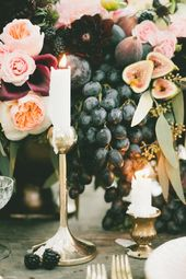 fig and gold wedding with the coolest bar ever