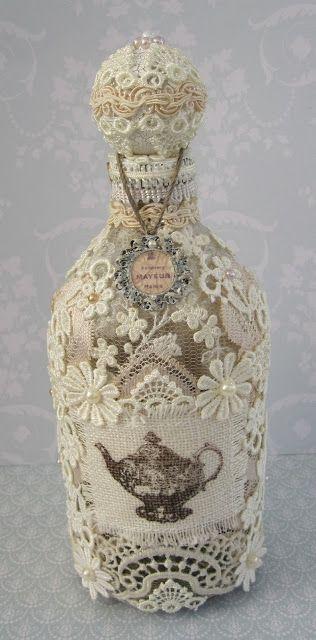 Декор бутылочки.