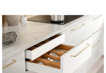IKEA - EKBACKEN Countertop, White marble effect/laminate