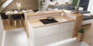 Natural kitchen with a modern kitchen island